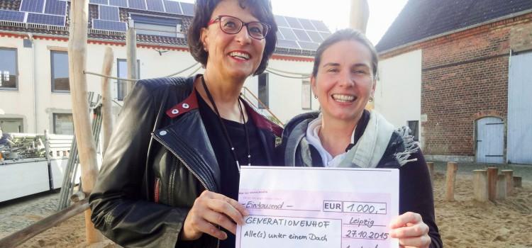Annekatrin Michler spendet 1000,– Euro